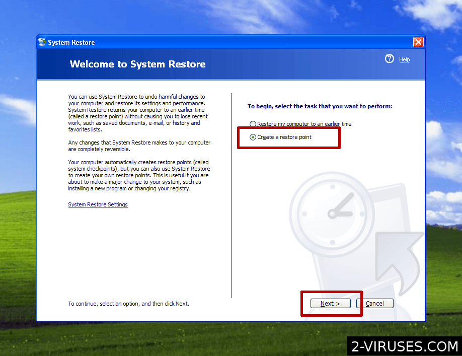 how to delete system restore points windows vista